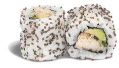 CALIFORNIA AVOCAT CRABE DE MADAGASCAR - RECETTE BIO !  - crabe de madagascar - wasabi mayo - oignons nouveaux - shitake - graines de chia