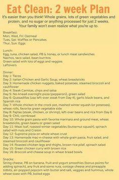 Clean eating menu plan ideas