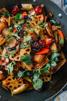 This ma la xiang guo recipe (a spicy mix of vegetables, meats, and Sichuan seasonings) is a recreation of a dish we enjoyed often when we lived in Beijing. Indian Food Recipes, Asian Recipes, Ethnic Recipes, Asian Foods, Szechuan Recipes, Fish Recipes, Low Fat Vegetarian Recipes, Delicious Recipes, Dish