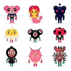 🌵#characterdesign 💊Vector chibi versions #vector #illustration #cartoon #chibi #digitalart #collection #personalproject #bulentgultek