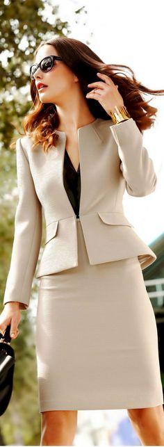 The Best Chic & Classy Women's Tailor Suit Outfits… Woman Skirts womens skirt suit Classy Outfits For Women, Classy Women, Clothes For Women, Ladies Clothes, Clothes Sale, Chic Outfits, Fashion Outfits, Skirt Outfits, Fashion Fashion