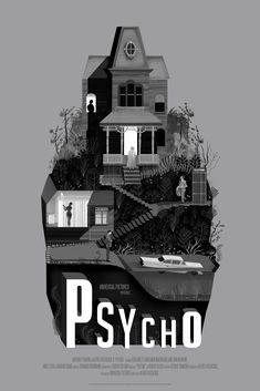 Psycho Rear Window Vertigo Movie Posters Release By Mondo