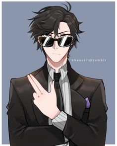Men in black - Mystic Messenger- Jumin Han Susanghan Messenger Anime Guys, Manga Anime, Anime Art, Jumin X Mc, Jumin Han Mystic Messenger, Messenger Games, Saeran, A Silent Voice, K Idol