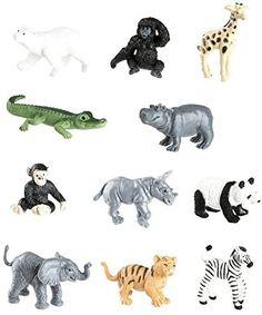 Amazon.com: Safari Ltd Zoo Babies Toy Figurine TOOB With 11 Adorable Baby Animals Including Baby Zebra, Panda, Hippo, Chimpanzee, Rhino, Alligator, Gorilla, Elephant, Tiger, Polar Bear, And Giraffe – Ages 3 And Up : Toys & Games Baby Zoo, Mother And Baby Animals, Cute Baby Animals, Montessori, Giraffe, Elephant, Baby Zebra, Thing 1, Jungle Animals