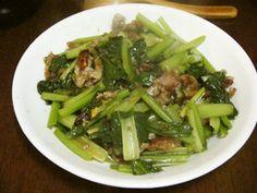 台湾料理~小松菜と豚肉の沙茶醤炒め by SandyMiao [クックパッド] 簡単おいしいみんなのレシピが261万品