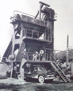 The Allen Company's asphalt plant late 1940's to early 1950's in central Kentucky.