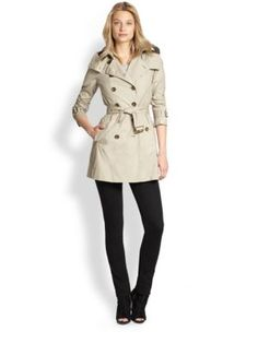 Burberry Brit - Lightweight Hooded Trench Jacket - Saks.com...400