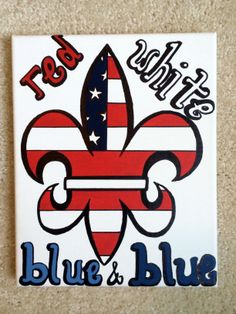 Kappa Kappa Gamma Canvas Red, White, Blue & Blue painted by Sydney Wiltshire