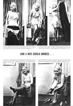 How to undress for your husband - helpful advice from 1937