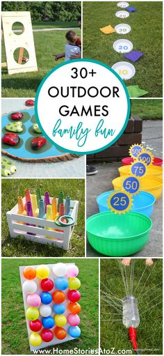 30+ Fun Outdoor Games Family Fun Games, Fun Games For Kids, Kids Party Games, Diy For Kids, Summer Games, Diy Games, Outdoor Party Games Kids, Family Activities, Party Games For Kids