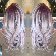 """iridescent berry #rootyblonde from the other day! adding a root shadow to your…"