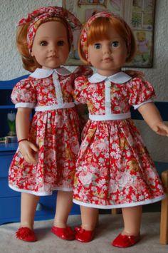 Puppenkleidung-Kleid-Sommerkleid-46-50-cm-Stehpuppe
