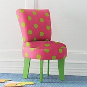 Bella Upholstered Flare Back Chair - Happy Color; Happy Kids!!!
