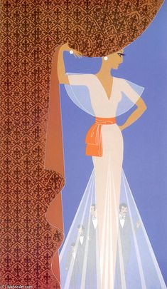 Le rideau de de Erté (Romain De Tirtoff) (1892-1990, Russia)