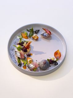 Marinated Mackerel with Sesame Ice Cream and Passion Fruit - Chefs Pencil