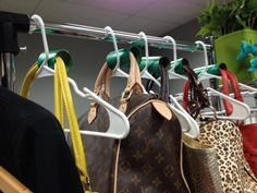 #SpringGreen Closet 3: You can also use #recycled toilet paper rolls to keep the bend out of your purse's leather straps!