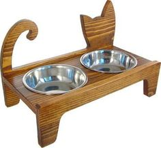 elevated cat feeder http://www.catsyards.com/product-category/beds-furniture/cat-houses-beds-furniture/
