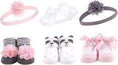 Hudson Baby Girl Socks and Headband Giftset Best Baby Shoes, Cute Baby Shoes, Baby Girl Headbands, Unisex Baby, Organic Baby, Sock Shoes, Size Clothing, Cute Babies, Panda