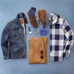 Great way to rock a denim jacket! #mensstyle