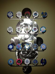 Poker chip display by gotsteel on Etsy, $120.00