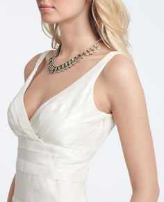 Ann Taylor - AT Wedding Dresses - Silk Georgette Mermaid Wedding Gown