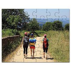 Walkers on El Camino, Spain, Europe Puzzle on CafePress.com