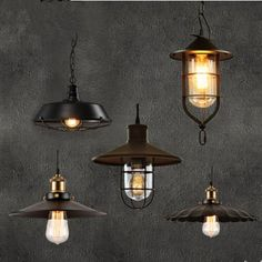 Edison Style Loft Industrial Lighting Vintage Pendant Lamp Fixtures For Dinning Room Hanging Lights Lampen Lamparas Colgantes. Yesterday's price: US $35.56 (29.26 EUR). Today's price: US $30.58 (25.36 EUR). Discount: 14%.