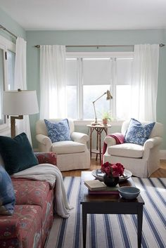 michael penney via house of turquoise Rugs In Living Room, Home And Living, Living Room Decor, Living Spaces, Clean Living, Living Area, House Of Turquoise, Living Room Furniture Layout, Living Room Designs