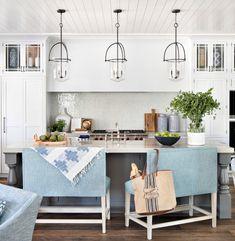 Grey Kitchen Island, Lexington Furniture, Shower Floor Tile, Kitchen Paint Colors, Summer Kitchen, Kitchen Cabinetry, Florida Home, Custom Cabinets, Beautiful Kitchens