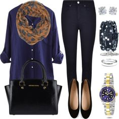 Outfits ideas to combine the dark blue color Classy Outfits, Casual Outfits, Cute Outfits, Fashion Outfits, Womens Fashion, Looks Style, My Style, Looks Jeans, Office Outfits
