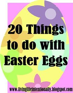 20 FUN Activities to do with plastic easter eggs! Lots of fun learning activities, games, and more for toddler, preschool, prek, kindergarten, first grade, 2nd grade, 3rd grade and more!