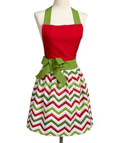 Take a look at this Holiday Zigzag Apron - Adult on zulily today!