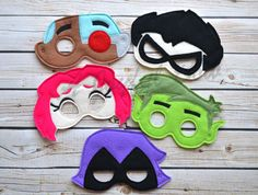 This listing is for ONE or a set of ALL Teen titans Go inspired masks. They come with elastic attached for easy use. Great for dress up or party