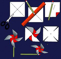 How to Make a Pinwheel. Learn how you can make a pinwheel toy using a pencil, a tack, and a piece of paper. | DIY | Paper Crafts