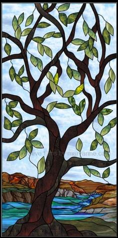 .stained glass tree