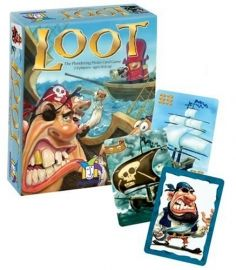 #Gamewright Loot Card Game Set sail for an exciting #adventure of #strategy and skullduggery in this captivating card game. #Storm your opponents' merchant ships and seize valuable treasure. But watch your back, matey ? plundering #pirates are out to capture your ships as well! The player with the most loot rules the high #seas. 2 to 8 players. Playing Time: 20 minutes. Price: S$17.90