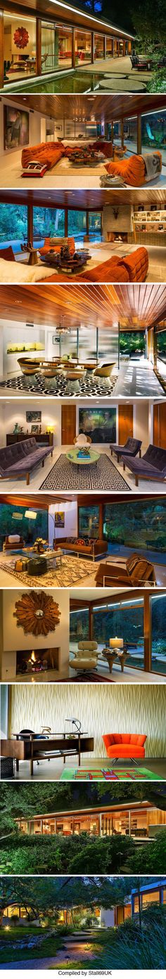 Located in Encino, California The Milton Goldman house designed by architect Richard Neutra in 1951