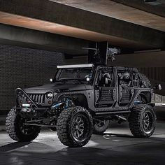 This Jeep might be just sligghhhtly too aggressive for me. Jeep Wrangler Rubicon, Jeep Wrangler Unlimited, Jeep Wranglers, Jeep Wrangler Custom, Jeep Suv, Jeep Truck, Hummer Truck, Custom Jeep, Custom Trucks