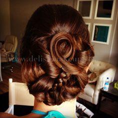 Hawaii bridal updo hair Hawaii Makeup, Bridal Updo, Updos, Dreadlocks, Stylists, Hair Styles, Artist, Beauty, Up Dos