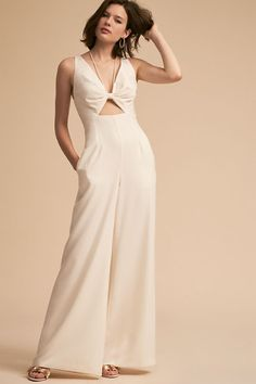 2bdeb16a1765 Jill Jill Stuart Bryant Jumpsuit from BHLDN white cutout wedding jumpsuit