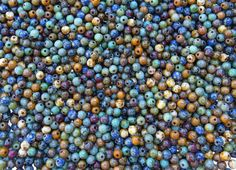 4mm Opaque Natural Earth Picasso Mix Czech Glass Beads - Qty 100 (AS28) by beadsandbabble on Etsy https://www.etsy.com/listing/224409806/4mm-opaque-natural-earth-picasso-mix