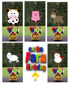 Farm Animals Red Barn Party Centerpiece 3 feet by playpatterns, $35.00