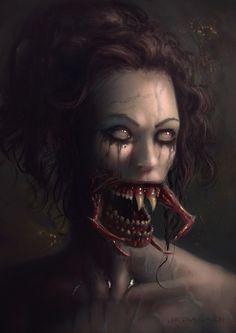 Smiling Lady, Nicolas Avon on ArtStation at https://www.artstation.com/artwork/8mKaq