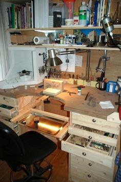 jeweler's bench..I used to work on this one making rings, and I loved every second!