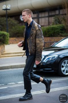 Paul Hameline Street Style Street Fashion Streetsnaps by STYLEDUMONDE Street Style Fashion Photography
