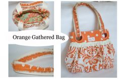 Orange Gathered Bag
