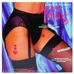 Tastee Tattoos http://yummyedibleundies.com/tastee-tattoos/
