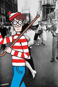 Historical Waldo 02 - VJ Day
