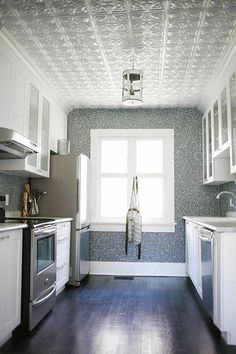 Before & After: An Ontario Bungalow Brings the Sea Indoors | Design*Sponge {love this kitchen!}