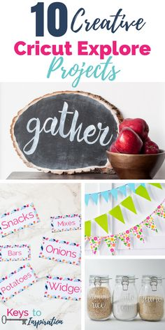 10 creative Cricut Explore projects for you to try for your next craft session. Tutorials for your Cricut Explore Air.
